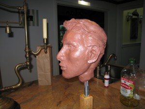 Face study clay